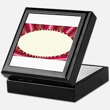 Oval Cinema Style Marquee Keepsake Box