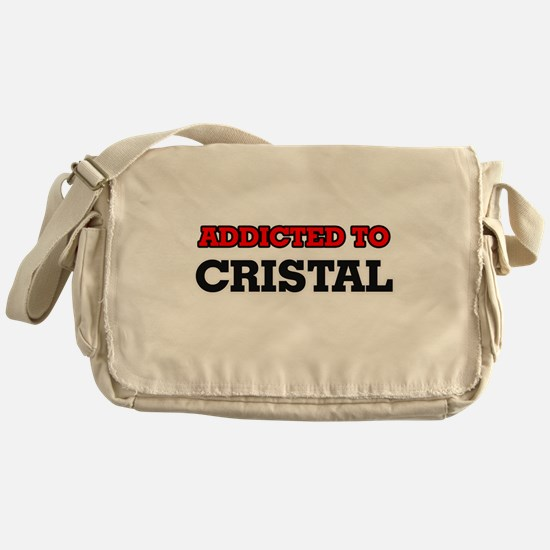Addicted to Cristal Messenger Bag
