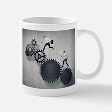 People running mechanism Mugs