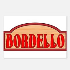 Wooden Bordello Sign Postcards (Package of 8)