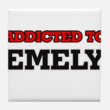 Addicted to Emely Tile Coaster