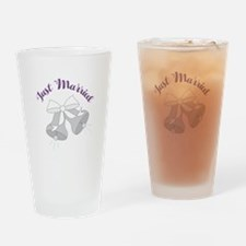 Just Married Bells Drinking Glass