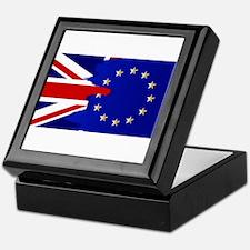 Union Jack and EU Blend Keepsake Box