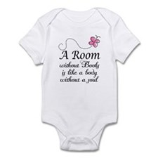 Room Without Books Slogan Infant Bodysuit