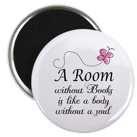 """Room Without Books Slogan 2.25"""" Magnet (10 pack)"""