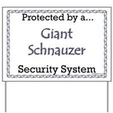 Giant Schnauzer Security  Yard Sign
