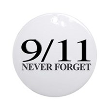 9/11 Never Forget Ornament (Round)