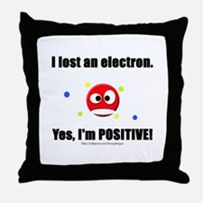 Lost Electron Throw Pillow