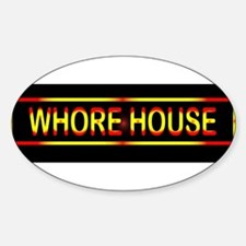 Whore House Sign Bumper Stickers