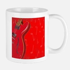 Red Guitar Background Mugs