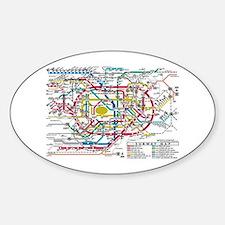SUBWAY - METRO MAPS - TOKYO JAPAN! Decal
