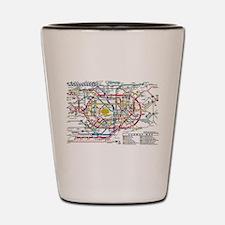 SUBWAY - METRO MAPS - TOKYO JAPAN! Shot Glass