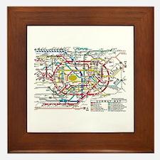 SUBWAY - METRO MAPS - TOKYO JAPAN! Framed Tile