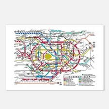 SUBWAY - METRO MAPS - TOK Postcards (Package of 8)