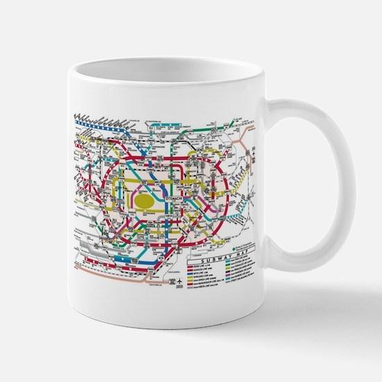 SUBWAY - METRO MAPS - TOKYO JAPAN! Mugs