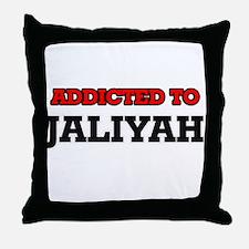 Addicted to Jaliyah Throw Pillow