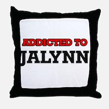 Addicted to Jalynn Throw Pillow