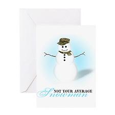 Camoflauge Snowman Greeting Card