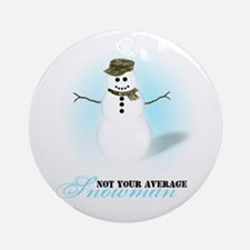 Camoflauge Snowman Ornament (Round)