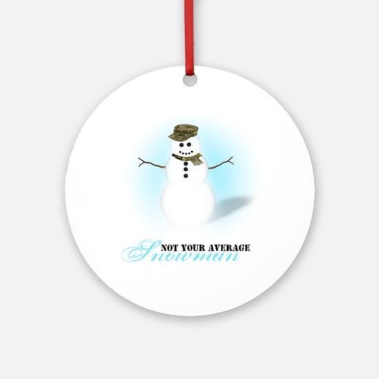 Camoflauge Snowman Ornament (Round)