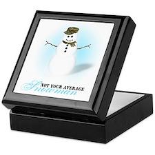 Camoflauge Snowman Keepsake Box