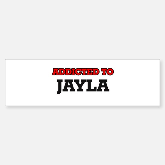 Addicted to Jayla Bumper Car Car Sticker