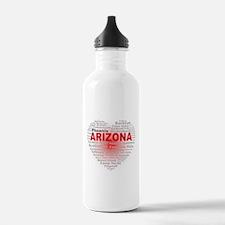 Arizona Word Cloud Hea Water Bottle