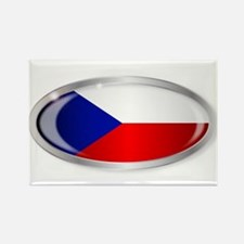 Czech Republic Flag Oval Button Magnets