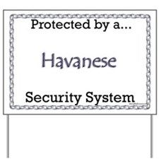 Havanese Security  Yard Sign
