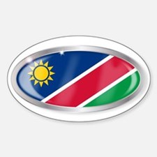 Namibia Flag Oval Button Decal