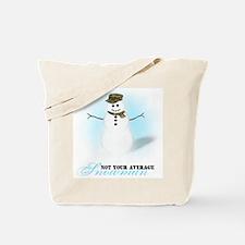 Camoflauge Snowman Tote Bag