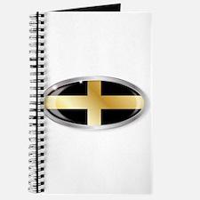 Welsh Saint Davids Flag Oval Button Journal