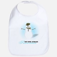 Camoflauge Snowman Bib