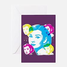 Audrey Hepburn Color Collage Greeting Card