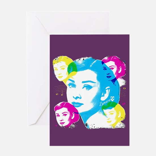 Audrey Hepburn Color Collage Greeting Card