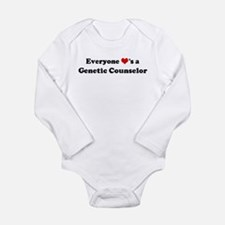 Loves a Genetic Counselor Infant Creeper Body Suit