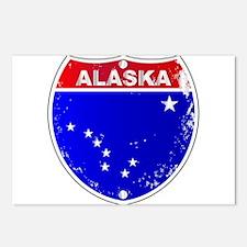 Alaska Interstate Sign Postcards (Package of 8)