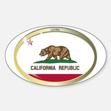 California State Flag Oval Button Decal