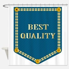 Best Quality Denim Patch Shower Curtain
