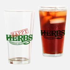 Happy Herbs Drinking Glass