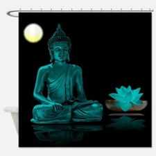 Buddha Meditation Style Shower Curtain
