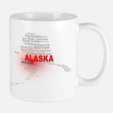 Alaska State Word Cloud Mugs