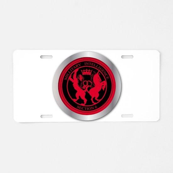Mi6 Badge Button Aluminum License Plate
