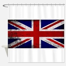 Grunge Union Jack Flag Shower Curtain