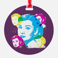 Audrey Hepburn Color Collage Ornament