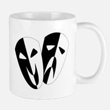 Black and White Stage Masks Mugs