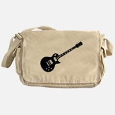 Black Guitar Messenger Bag