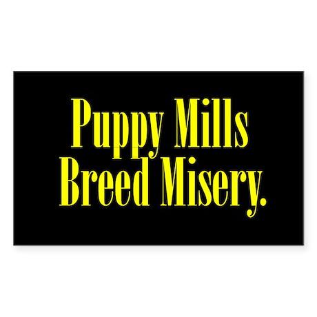 Breed Misery - Black/Yellow Rectangle Sticker