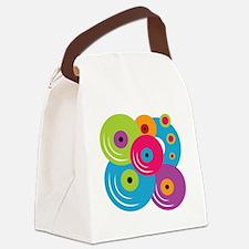 Neon Vinyl Records Canvas Lunch Bag