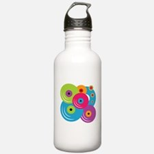Neon Vinyl Records Water Bottle